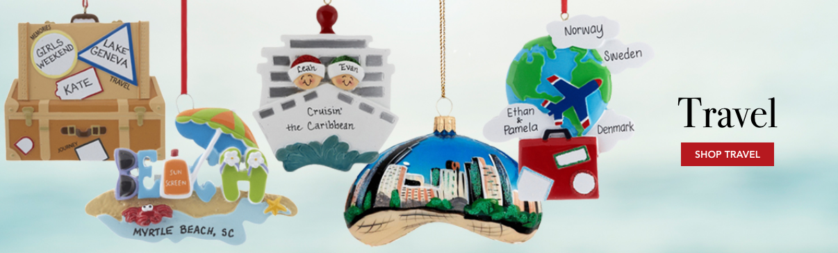 Travel Ornaments