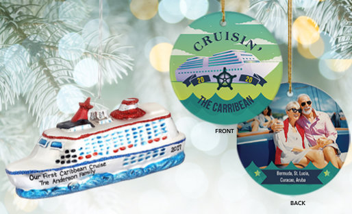 Personalized Cruise Travel Ornaments