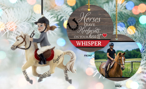 Personalized Horses Christmas Ornaments