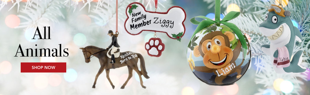 Personalized All Animals Christmas Ornaments