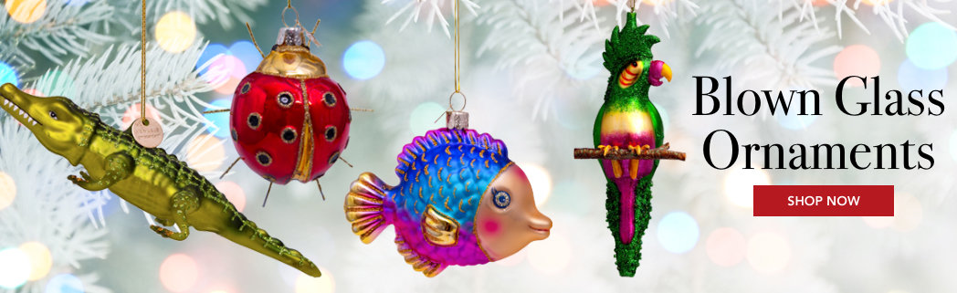 Personalized Blown Glass Ornaments
