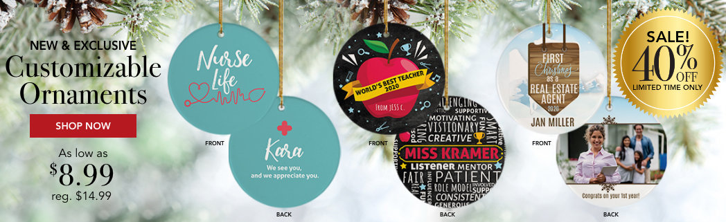 Personalized Occupations Christmas Ornaments