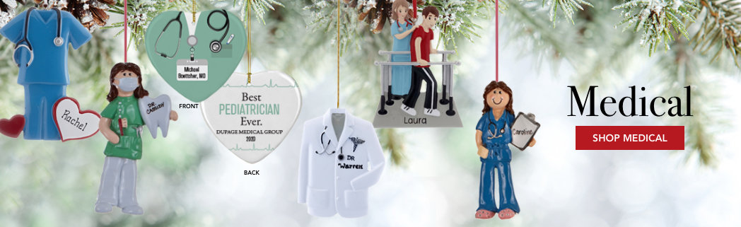 Personalized Medical Christmas Ornaments