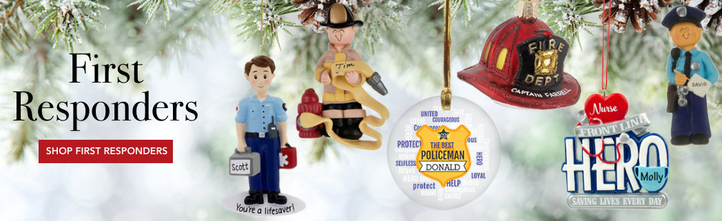 Personalized First Responders Christmas Ornaments