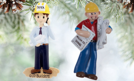 Personalized Architects & Engineers Christmas Ornaments