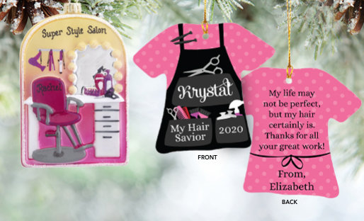Personalized Stylists Christmas Ornaments