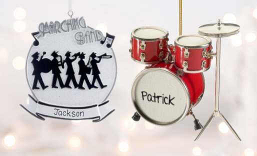 Personalized Music Christmas Ornaments