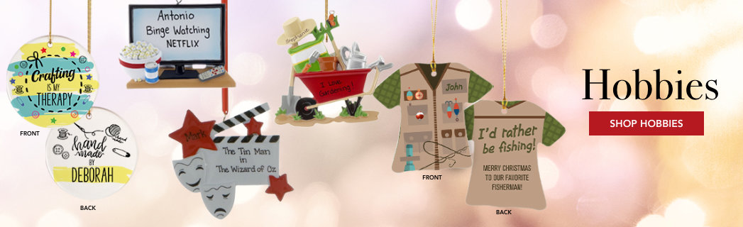 Personalized Hobbies Christmas Ornaments