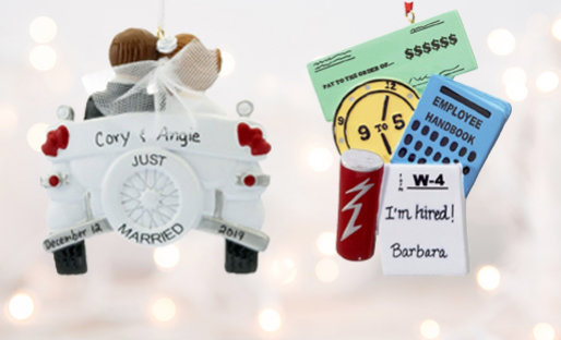 Personalized Milestone Christmas Ornaments