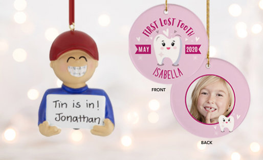 Personalized KIDS Milestones Christmas Ornaments