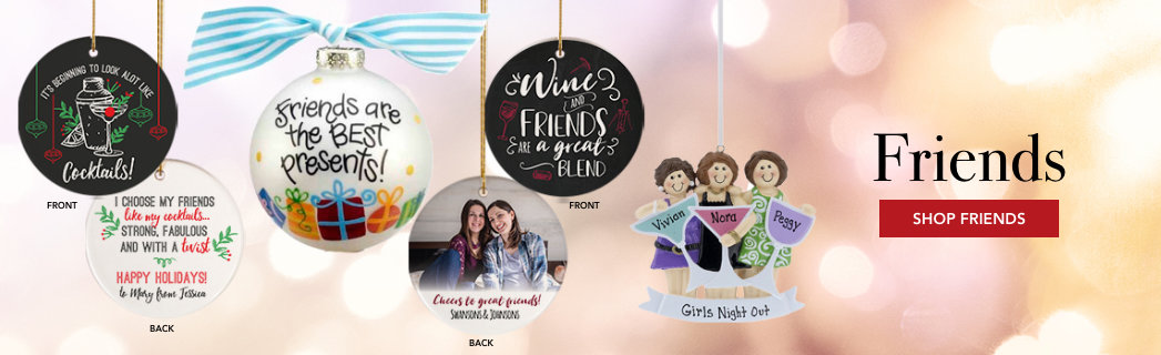 Personalized Friends Christmas Ornaments