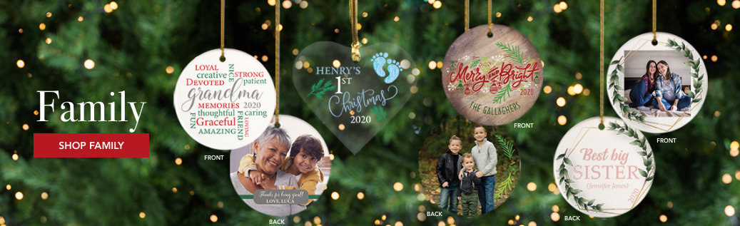 Family Customizable Ornaments