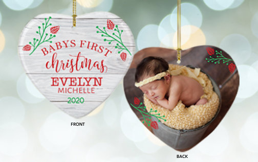 Baby's First Christmas Customizable Ornaments