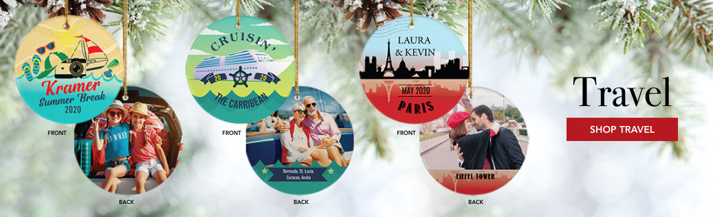 Travel Customizable Ornaments