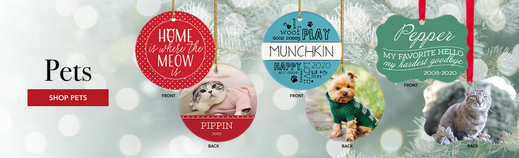 Pets Customizable Ornaments