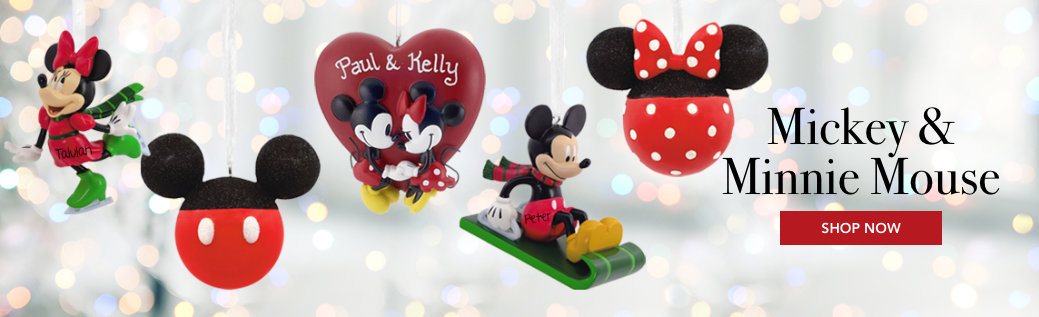 Mickey & Minnie Ornaments
