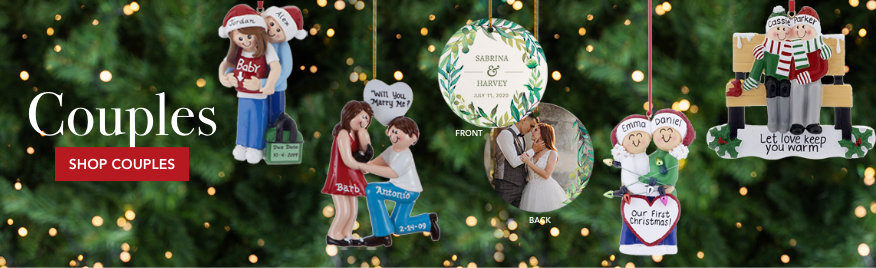 Couples Personalized Christmas Ornaments