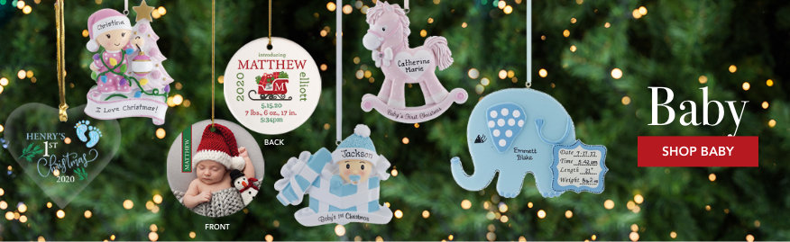 Baby Personalized Christmas Ornaments