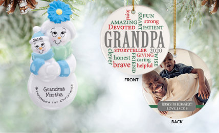 Grandparents Personalized Christmas Ornaments