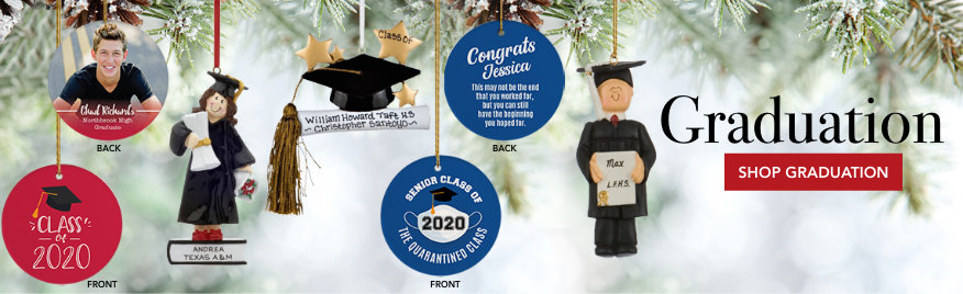 Graduation Personalized Christmas Ornaments