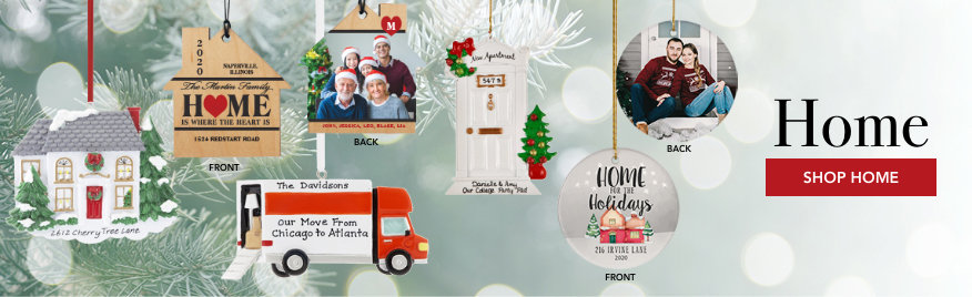 Home Personalized Christmas Ornaments