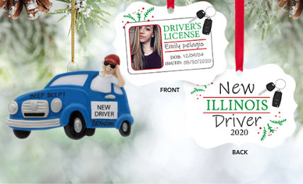 New Driver Personalized Christmas Ornaments