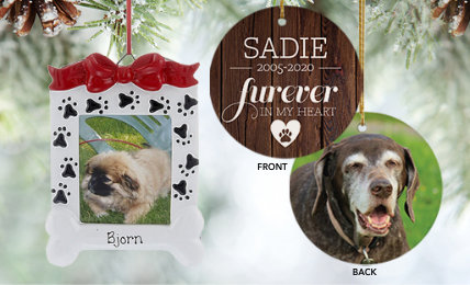 Pet Memorial Personalized Christmas Ornaments