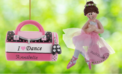 Dancing Personalized Christmas Ornaments