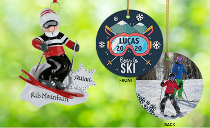 Winter Sports  Personalized Christmas Ornaments