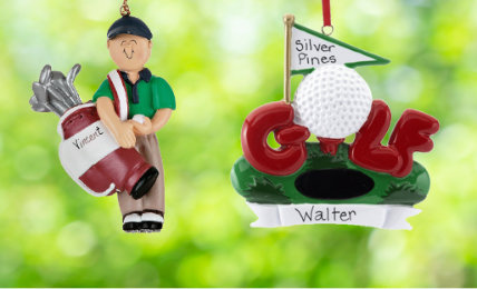 Golf Personalized Christmas Ornaments