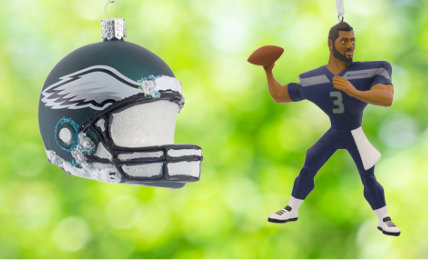 NFL Personalized Christmas Ornaments