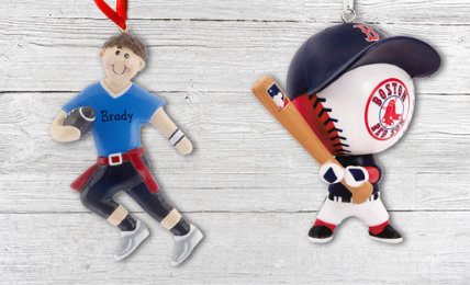 Sports Personalized Christmas Ornaments