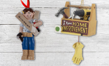 HandyMan Personalized Christmas Ornaments