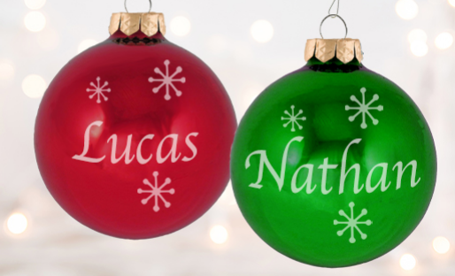 Personalized Birthstone Christmas Ornaments