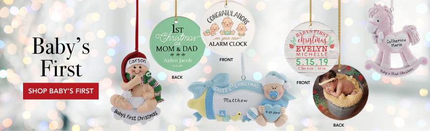 Personalized Baby's First Ornaments
