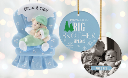 Personalized Brother Ornaments