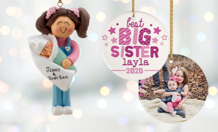 Personalized Sister Ornaments