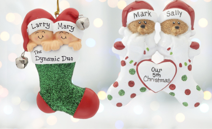 Personalized Multiple Baby Ornaments