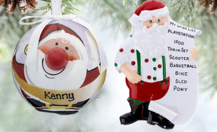 Personalized Santa Ornaments