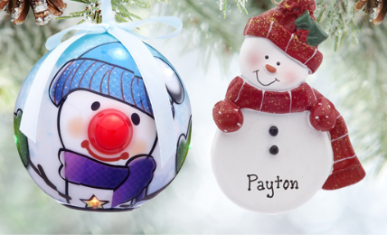 Personalized Snowmen Ornaments