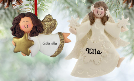 Personalized Angel Ornaments