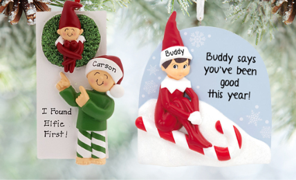 Personalized Elf Ornaments