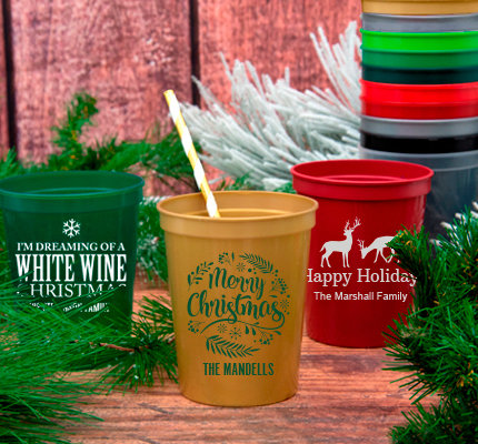 Personalized Christmas Stadium Cups