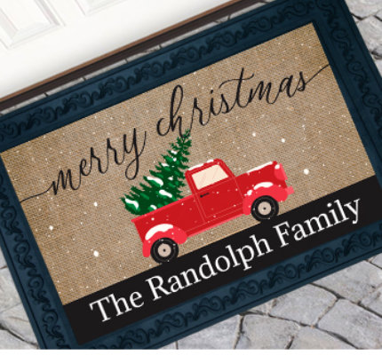 Personalized Christmas Doormats