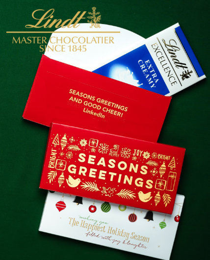 Personalized Holiday Lindt Chocolate Bars