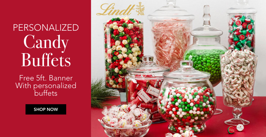 Personalized Christmas Candy Buffets