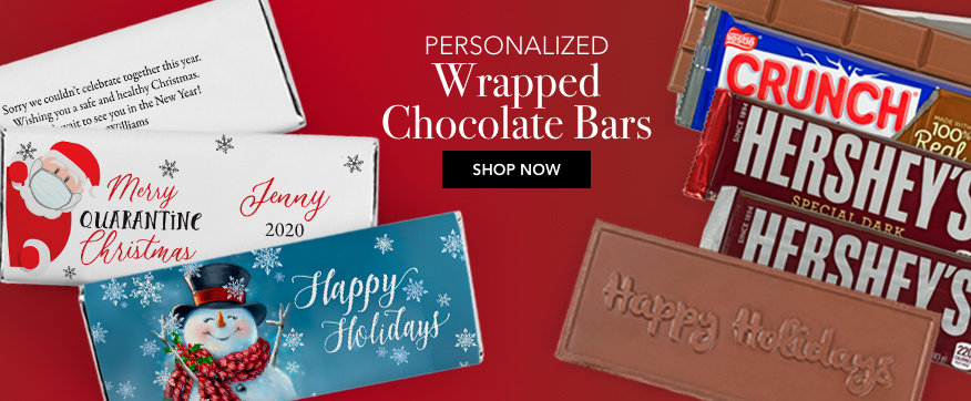Personalized Wrapped Chocolate Bars