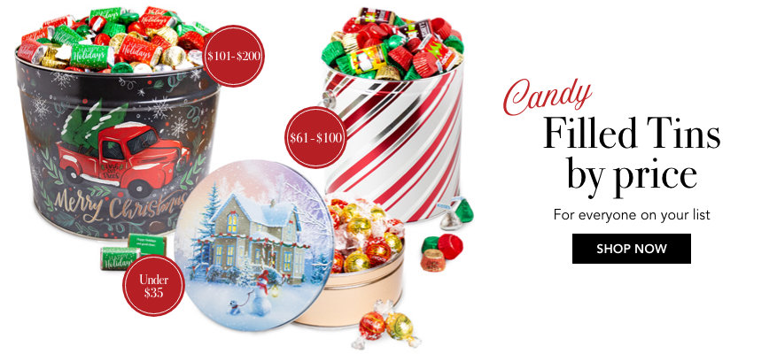 Holiday Tins by price