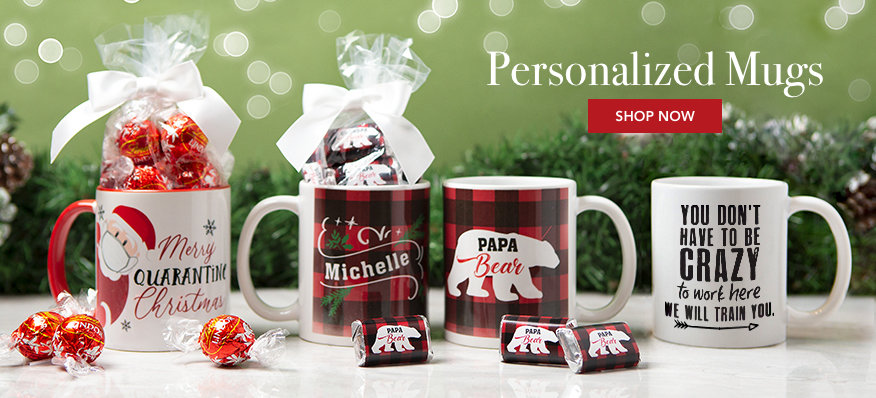 Personalized Candy-FilleD mugs