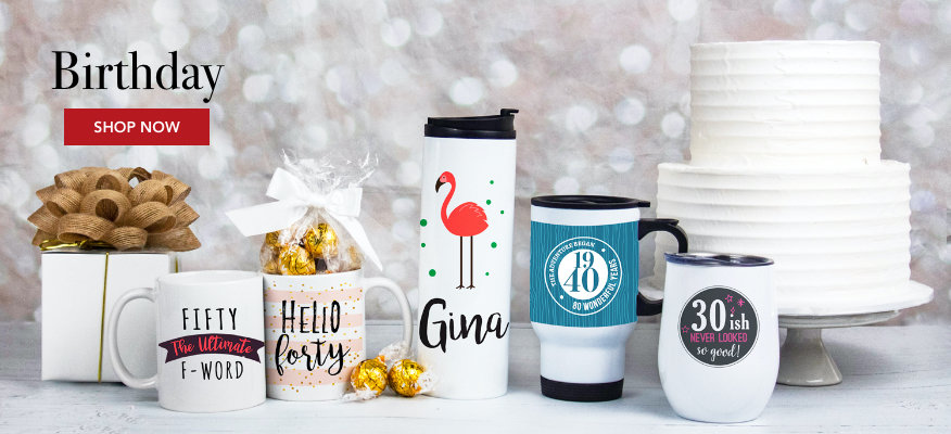 Personalized Birthday Drinkware